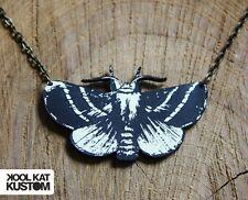 MOTTEN KETTE Motte Moth Necklace Hipster Gothic Nachtfalter Laser