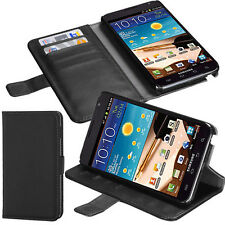 Leather Wallet Flip Card Holder Folio Stand Case Samsung Galaxy Note T879 I717