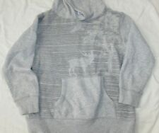 Boys Gymboree gray pullover hoodie sweatshirt M 7-8 stripes moose tree