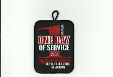 SCOUT BSA 2003 OA ONE DAY SERVICE CENTRAL REGION WWW SERVANT LEADERS PATCH BADGE