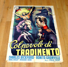 COLPEVOLE DI TRADIMENTO manifesto poster Mindszenty Bickford Guilty of Treason
