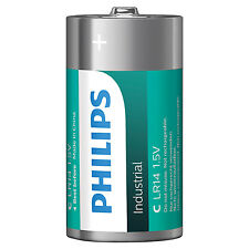 Philips Industrial Alkaline Batteries (Box of 10) (Type C)