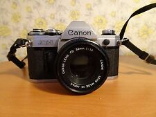 Vintage Retro Canon AE-1 35mm Camera with Canon FD 50mm F1.8 Lens