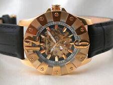 *MH56* Graf von Monte Wehro Automatik HAU Herrenuhr vergoldet mit Lederband