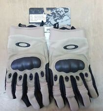 Genuine Oakley Tan Special Forces Hard Knuckle Tactical Pilot Gloves XXL