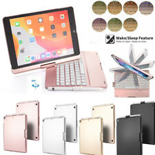 "For iPad 7th Gen 10.2""/10.5"" Rotate Backlit Bluetooth Keyboard Stand Cover Case"
