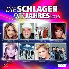 DIE SCHLAGER DES JAHRES 2016 (DJ ÖTZI, ANDREA BERG,...)  2 CD NEU