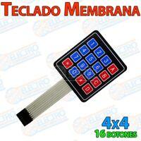 Teclado membrana 16 teclas 4x4 plano adhesivo KeyPad - Arduino Electronica DIY