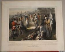New ListingBattle Of Long Island Us 1860 Turgis Antique American Revolutionary Battle Scene