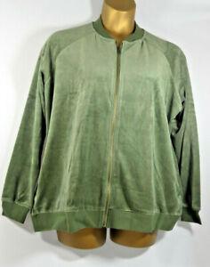 Ladies Capsule Leisure Full Zip Fleece Jacket Khaki Size UK 26 & 28 LFAug12-03