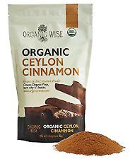 Organic Wise 1 lb USDA Certified Ceylon Cinnamon Ground Powder