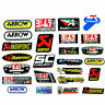 3D Universal Motorcycle Exhaust Pipe Aluminum Metal Heat Resistant Sticker Decal