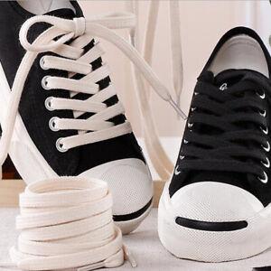 3Pairs Cotton Flat Shoes Laces Canvas Double Layer Shoelaces Long Thin Shoelaces
