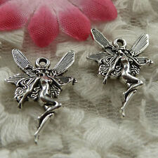 free ship 90 pieces Antique silver angel charms 22x15mm #4144