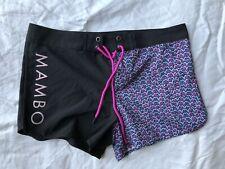Womens Girls Mambo Shorts Surf Board Size 12 Purple Black Beach