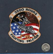 F-16 FIGHTING FALCON 3500 HOURS USAF EFS EF TFS Fighter Squadron Crew Patch