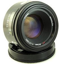 Minolta AF 50mm f1.7 Prime Lens Dynax Maxxum Sony Alpha A KonicaMinolta fit