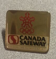1980 Olympics ~ Canada Safeway ~ Lapel Hat Pin ~ Back Marked 1979 ~ Sponsor