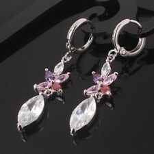 Unbranded Crystal White Gold Filled Pear Costume Earrings