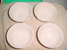 CORELLE SANDSTONE BEIGE 12 OUNCE RICE BOWLS X4 NEW WITH LABEL FREE USA SHIP