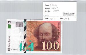 Ticket France 100 Francs 1997 Pick 158a T908