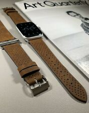 Brown Premium Genuine Leather Strap For Apple Watch 42/44mm Series 1,2,3,4,5,SE