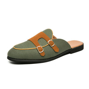 Mens Loafers Flats Slingbacks Slippers Buckles Slip On Stylish Summer Shoes
