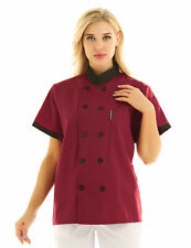 Unisex Womens Mens Short Sleeve Chef Coat Restaurant Cook Clothes Chef Uniform