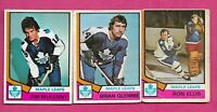 1974-75 OPC TORONTO MAPLE LEAFS  CARD LOT (INV# C3850)