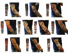 10pcs Tattoo Sleeve Cover Punk Stretchy Temporary Fake Arm Stockings Sleevelet