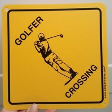 "Golf Crossing Sign 7 5/8"" x 7 5/8"""