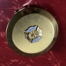 Fire Department New York State Chiefs Women's Gold Tone Lipstick Mirror Compact