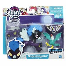 My Little Pony Guardians of Harmony Shadowbolts Pony and Cockatrice Figures New