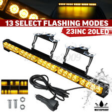 "23"" 20 LED Waterproof Car Roof Emergency Strobe Light Bar Traffic Advisor Amber"