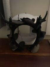 Roses Antlers Black Headband Lolita Goth Punk Emo Anime Cosplay Kawaii Hair