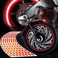 "16/17/18/19"" Reflective Rims Tape/Wheel Rim Decal Pattern Stripes Sticker Red"