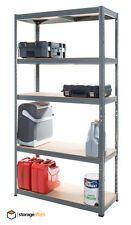 Garage Shelving Unit 5 Tier Boltless Metal Racking Shelf Storage