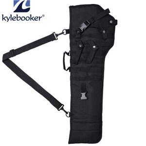 Tactical Black Rifle Scabbard Military Gun Holster Assault Shotgun Carrier Bag