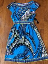 NWT New York and Company Multi Color Print Dress Small