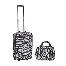 c375252df755 Rockland Unisex 2 Piece Luggage Set F102 Zebra