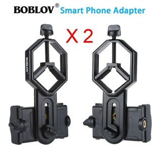 2X téléphone portable appareil photo adaptateur télescope binoculaire  titulaire