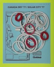 1977 Gottlieb Canada Dry / Solar City pinball rubber ring kit