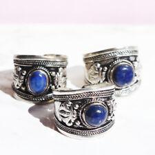 Tibetan silver ring statement garnet amulet gemstone hippy/boho/vintage/gypsy