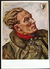 Orig WW2 German Willrich Postcard, Werner Baumbach Luftwaffe JU88 Pilot Rare