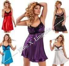Satin Glamour Babydoll, Chemise Sleepwear for Women
