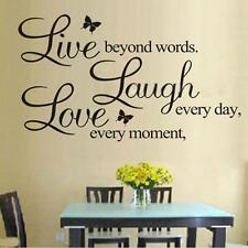 LIVE LAUGH LOVE Quote Wall Stickers Home Decor DIY Vinyl Art Mural Decal Room Bт
