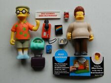 THE SIMPSONS Resort Smithers & Brad Goodman Figure Lot Playmates WOS Complete