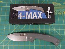 NEW Cold Steel 4 Max 62RN Folding Knife Titanium, CPM 20CV Gray Made in Italy