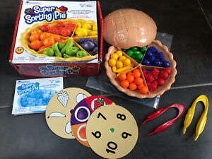 Learning Resources Super Sorting Pie colour shape preschool game age 3+ complete