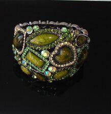 Verde -  bracciale Braccialetto topazio pietre cristalli Naturale ,donna